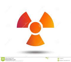 Radiation Logo Design Radiation Sign Icon Danger Symbol Stock Vector