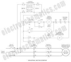 industrial motor starter industrial run stop relay circuit schematic