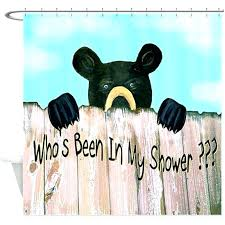bear shower curtains been in my shower black bear funny shower curtain black bear shower curtain bear shower curtains