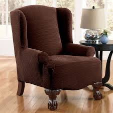 best solutions of decor pretty design of wingback chair covers for chic furniture awesome overstuffed chair covers