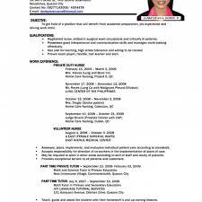 Sample Of Resume Letter For Job Sample Of Cv For Job Application