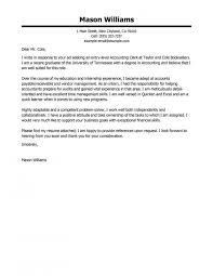 Accounting Cover Letter Accounting Cover Letter Best Accounting With