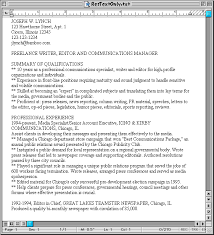plain text resume examples sample hardcopy and plain text resumes susan irelands resume site