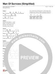 Christian Music Charts 2012 Man Of Sorrows Simplified Chords Hillsong Worship