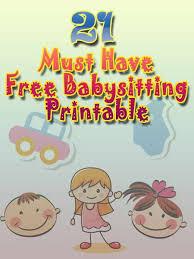 Babysitting Flyer Template Printable Babysitting Flyer Template