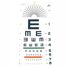 Tumbling E Eye Chart 20 Distance Eye Cards Eye Charts