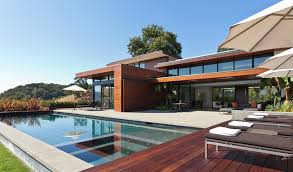 modern pool designs and landscaping. Rectangular Pool Designs Modern With Barn Door Cedar Siding. Image By: Swatt Miers Architects And Landscaping S