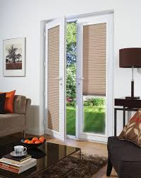 ... French Door Blinds Roman Shades For French Doors White Frame Double  Glass Door With ...