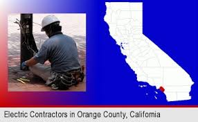 orange county ca electrician. Delighful Electrician An Electrician Wearing A Tool Belt Installing Electrical Wiring Orange  County Highlighted In Red With Ca Electrician O
