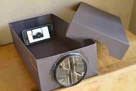your smartphone photos can see the big screen with photojojo s diy projector