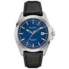 bulova watches designer watches ernest jones bulova precisionist men s stainless steel strap watch product number 4785452