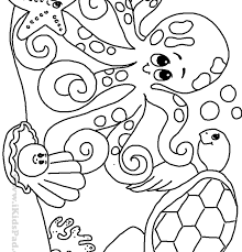 Ocean Scene Coloring Pages Printable Sheets Free For Kindergarten