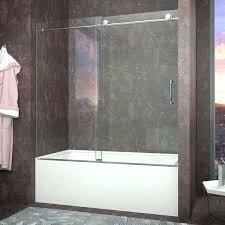 sliding tub doors don series in by door polished without bottom track frosted glass folding bath