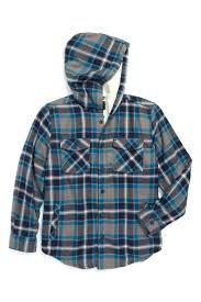 flannel hooded jacket image of grouper fleece lined toddler boys mens quilted plaid