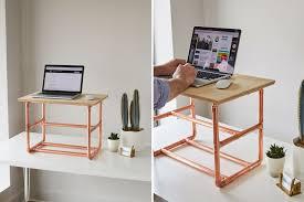 copper standing desk diy