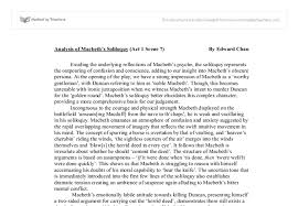 analysis of macbeth s soliloquy act scene university  document image preview