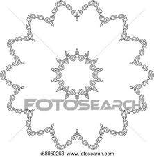 chain flower frame clip art k58950268