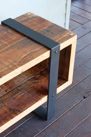reclaimed wood and metal furniture. Arbor Exchange Reclaimed Wood Furniture Media Piece W Metal In Banding And F