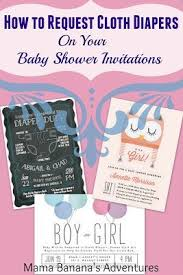 Diaper Shower Invitation How To Request Cloth Diapers On Your Baby Shower Invitations With
