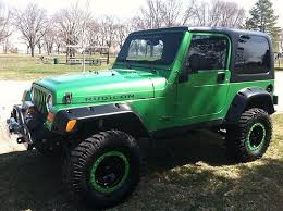 jeep wrangler rubicon tj 2004 electric lime green jk yj
