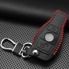 ··· stylish genuine leather car key chain keychain for mercedes benz. Genuine Leather Smart Case Cover For Mercedes Benz Key Chain Fit C E S Gla Gle Glc Gla