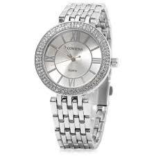 Dial Geneva Diamond Female Rosegal Off Quartz Business 31 Watch Round Style Contena
