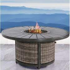 Peer Favorite Bayou Breeze Raina Resort Wicker Propane Fire Pit Table Aluminum In Gray Size 50 L X 50 W X 25 H Wayfair Cm 4275 Ibt Shop