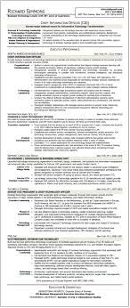 sample résumé chief information officer executive resume writer richard simmons cio