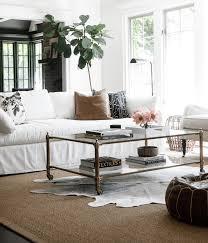 Elegant farmhouse coffee table styling