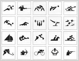 オリンピック競技をかわいく素敵にデザインしたフリーアイコン素材