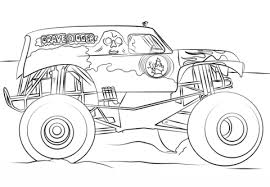 Grave Digger Monster Truck Coloring Page Free Printable Coloring Pages
