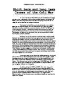 the causes of the cold war a level history marked by teachers com short term and long term causes of the cold war