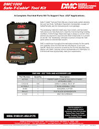 Daniels Crimp Chart Dmc1000 Safe T Cable Tool Kit Manualzz Com