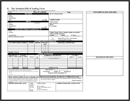 Blank Bill Of Lading Forms Extraordinary Shipping Bill Of Lading Template With Blank Free Canada Carpaty