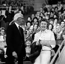 Johnny Carson's parents: John Carson, Ruth Carson in the audience on...  News Photo - Getty Images