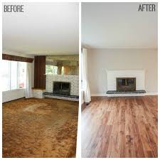 laminate floor installation before and after at thehappyhousie com