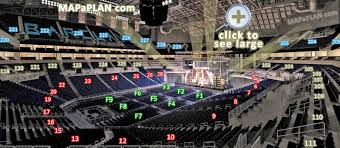 Barclays 3d Seating Chart Barclays Center Brooklyn Nets Concerts Seat Numbers