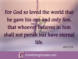 Famous Bible Quotes About Life Custom Famous Sayings From Bible For God So Loved The World John 4848