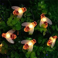 35 Light Strand Christmas Lights Us 11 17 14 Off Hanmiao 20 30 Solar Led Light String Christmas Lights Outdoor Honey Bee Garland Fairy Lights Ip Waterproof Cork For Garden 35 In