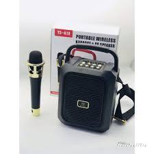 Loa Kẹo Kéo Karaoke Bluetooth Mini YS-A19 Tặng kèm micro không dây Tiện lợi  - Âm