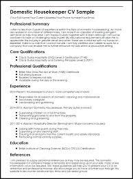 Resume Samples For Housekeeping Housekeeping Resume Sample Resume