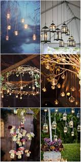vine rustic hanging wedding decorations with candle