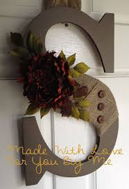 Fall Letter Wreath with Buttons - Promoting for my friend Alicia.