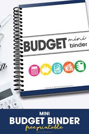 Free Budget Download Mini Budget Binder Free Printable Download