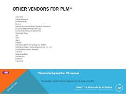 Plm Vendor Comparison Chart 2015 Quality Management System Vendor Benchmark