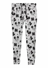 Patterned Joggers Adorable HM H M Patterned Joggers Light GrayMickey Mouse Women
