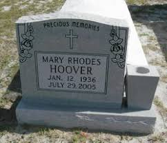 Mary Rhodes Hoover (1936-2005) - Find A Grave Memorial