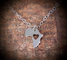 africa necklace silver tiny necklace map personalized pendant africa map sterling silver 935 in a