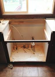install a sink existing cabinets kitchen how to