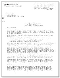 Irs Audit Letter 4464c Sample 1